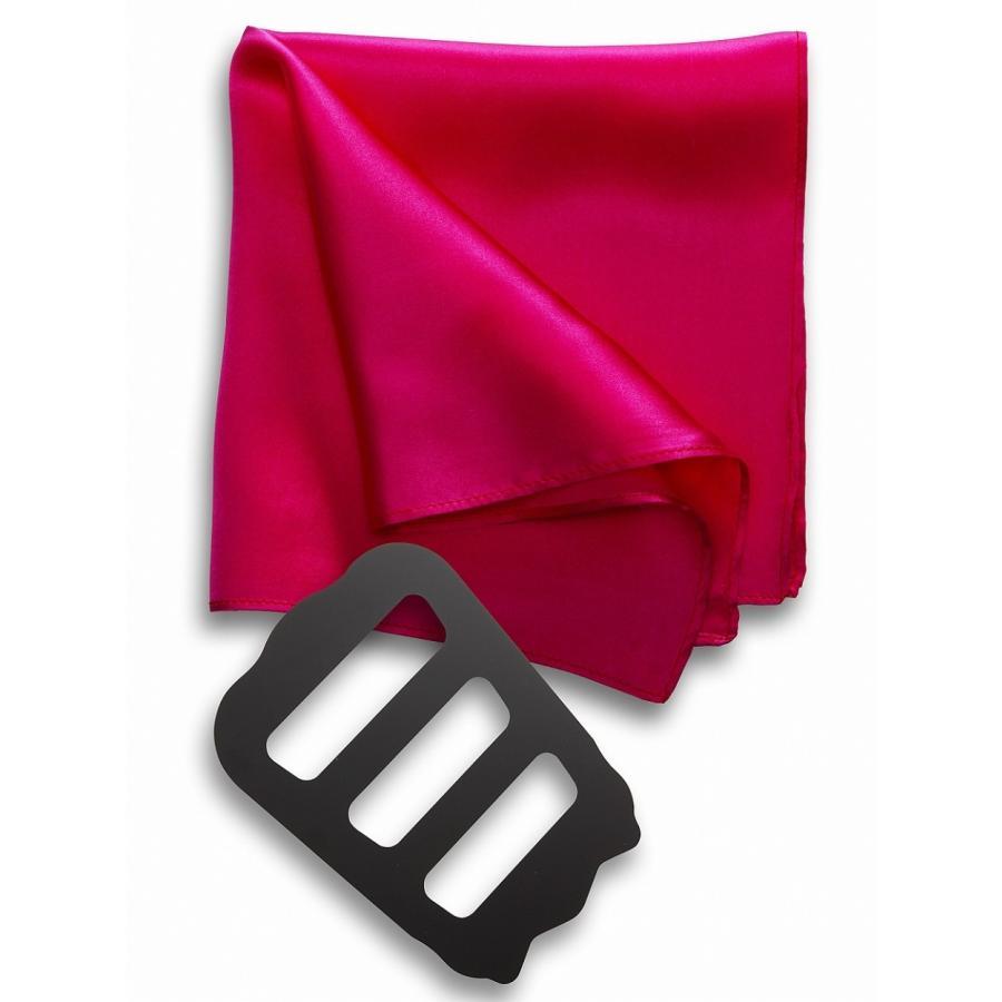 ポケットチーフ 結婚式 シルク100% スーツ ホルダー&折り方ガイド付き|freate|25