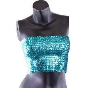 スパンコール チューブトップ Sサイズ Mサイズ 全14色 ショートタイプ ダンス 衣装 トップス コスプレ トップス ダンス衣装 ベリーダンス ダンス ┃|freedom-web|18