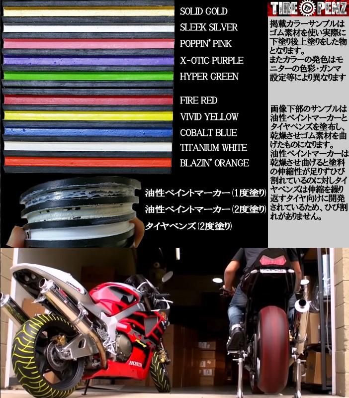 タイヤペンズ/タイヤマーカー/塗装キット/ドレスアップ/タイヤ専用開発カラーペン