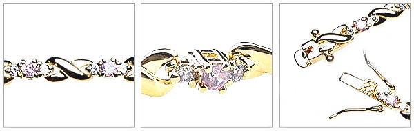 czダイヤモンドの小花を散りばめたブレスレット