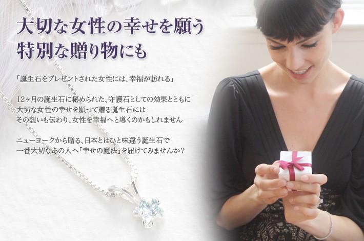 大切な女性の幸せを願う特別な贈り物にも 誕生石シルバーネックレス