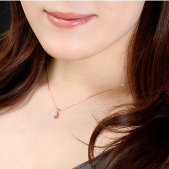 K14 ピンクゴールド ネックレス 装着イメージ