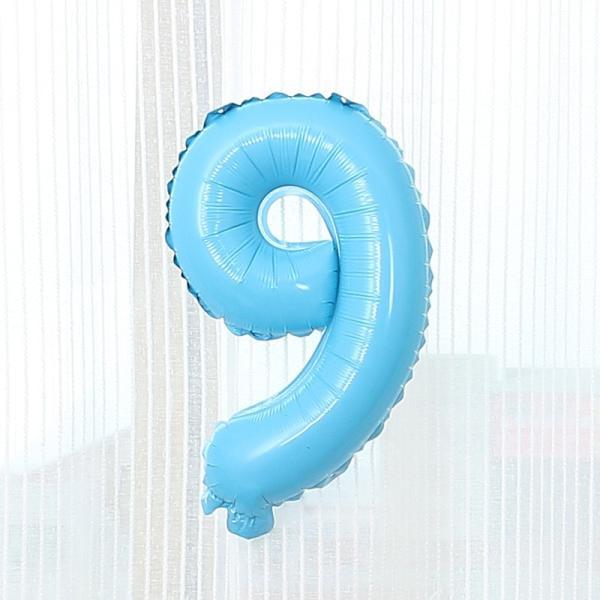 数字 風船 小さい 誕生日 パステルブルー ナンバーバルーン 40cm 風船 飾り付け サプライズ  プレゼント 安い おもちゃ ぺたんこ配送|frontierjapan|13