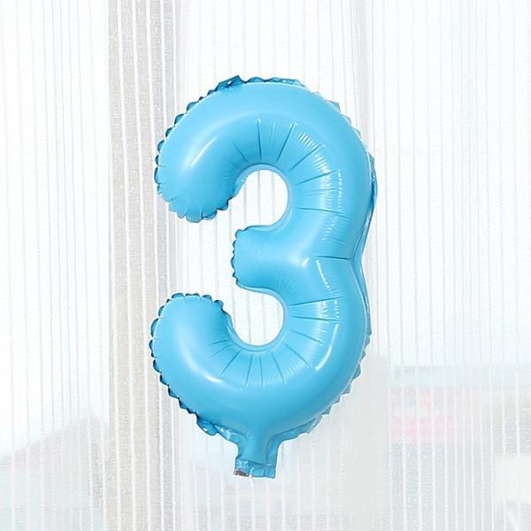 数字 風船 小さい 誕生日 パステルブルー ナンバーバルーン 40cm 風船 飾り付け サプライズ  プレゼント 安い おもちゃ ぺたんこ配送|frontierjapan|07