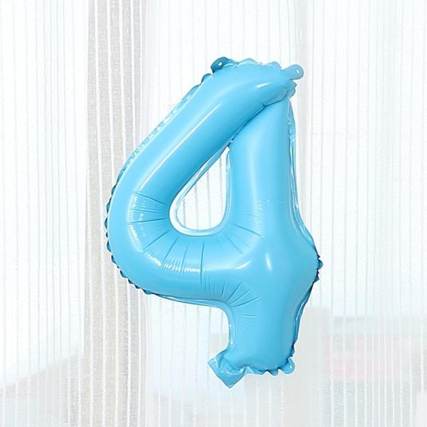 数字 風船 小さい 誕生日 パステルブルー ナンバーバルーン 40cm 風船 飾り付け サプライズ  プレゼント 安い おもちゃ ぺたんこ配送|frontierjapan|08
