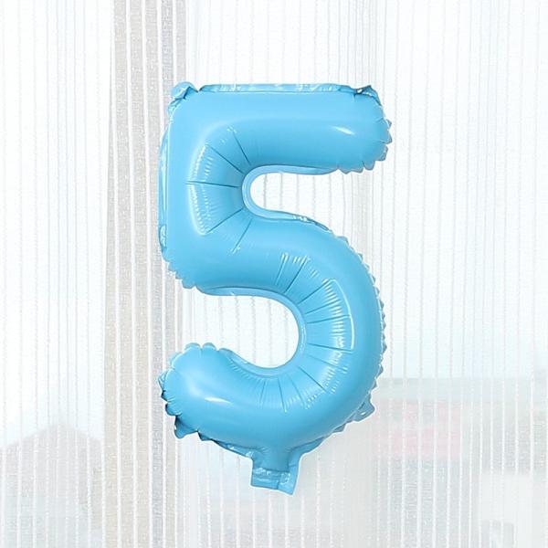 数字 風船 小さい 誕生日 パステルブルー ナンバーバルーン 40cm 風船 飾り付け サプライズ  プレゼント 安い おもちゃ ぺたんこ配送|frontierjapan|09
