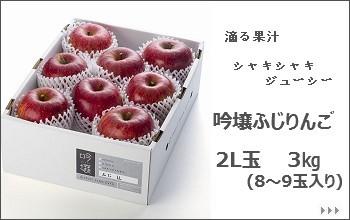 吟壌ふじりんご 2L 3Kg【https://store.shopping.yahoo.co.jp/fruitfarmkato/a02】