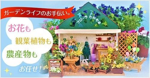 ガーデンライフのお手伝い。お花も観葉植物も農産物もお任せ!