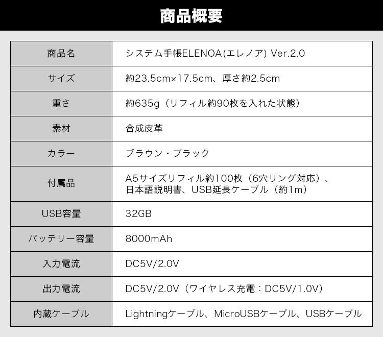 システム手帳ELENOA(エレノア)Ver.2.0