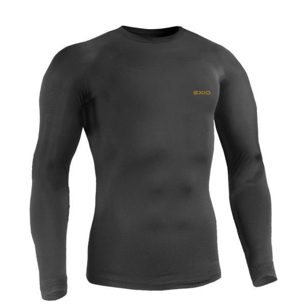 防寒インナー アンダーシャツ 長袖 丸首 ハイネック 防寒 タイツ 前開き 前閉じ 各種 メンズ 発熱 防寒着 アンダーウェア コンプレッションウェア EXIO エクシオ|fuerzajapan|20