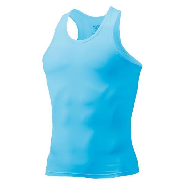 タンクトップ メンズ コンプレッションウェア コンプレッションインナー トレーニング スポーツ アンダーシャツ アンダーウェア インナー 全9色 EXIO エクシオ|fuerzajapan|22