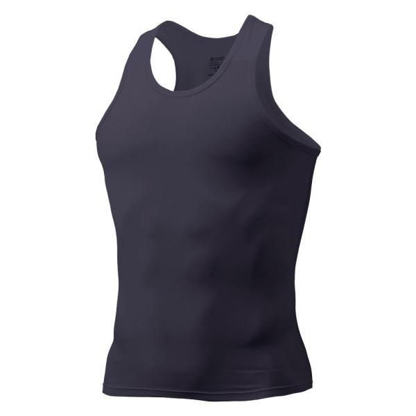 タンクトップ メンズ コンプレッションウェア コンプレッションインナー トレーニング スポーツ アンダーシャツ アンダーウェア インナー 全9色 EXIO エクシオ|fuerzajapan|23