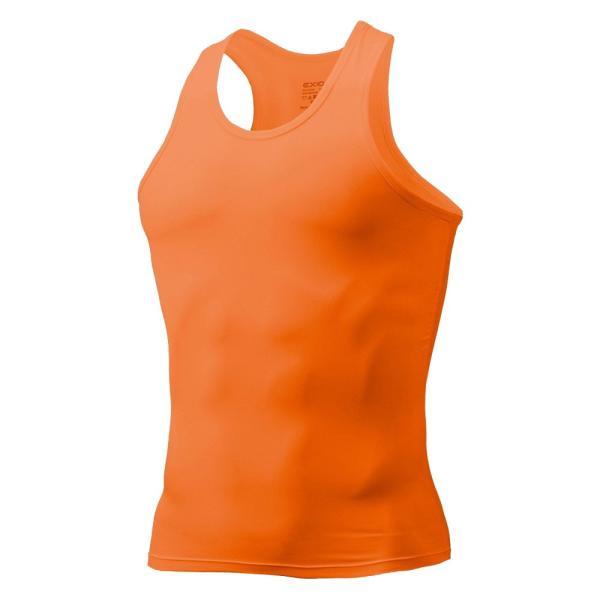 タンクトップ メンズ コンプレッションウェア コンプレッションインナー トレーニング スポーツ アンダーシャツ アンダーウェア インナー 全9色 EXIO エクシオ|fuerzajapan|24