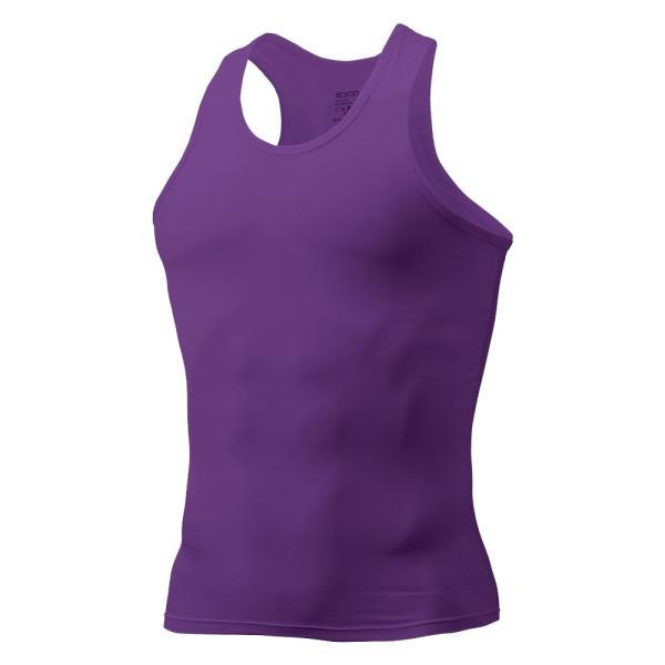 タンクトップ メンズ コンプレッションウェア コンプレッションインナー トレーニング スポーツ アンダーシャツ アンダーウェア インナー 全9色 EXIO エクシオ|fuerzajapan|25