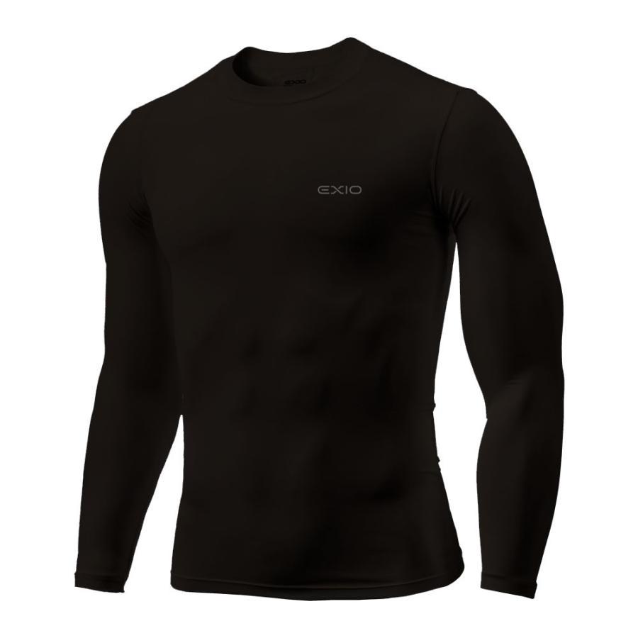 アンダーシャツ 長袖 丸首 メンズ コンプレッションウェア コンプレッション インナーシャツ アンダーウェア ゴルフウェア ゴルフ 野球 全7色 EXIO エクシオ fuerzajapan 21