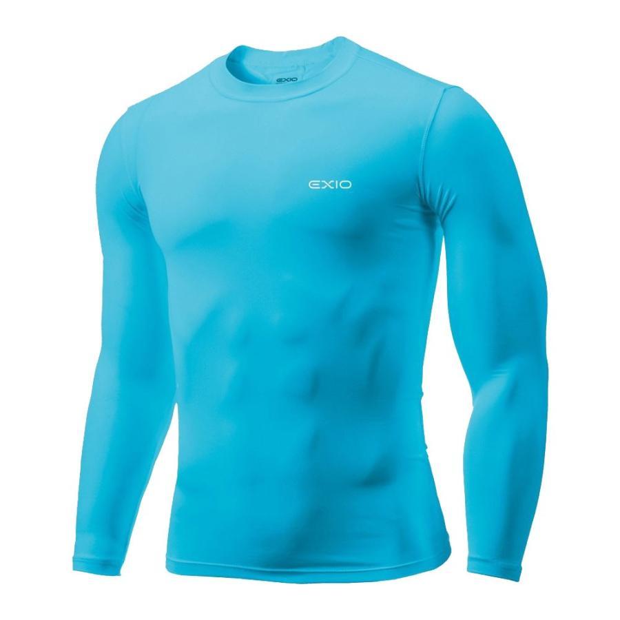アンダーシャツ 長袖 丸首 メンズ コンプレッションウェア コンプレッション インナーシャツ アンダーウェア ゴルフウェア ゴルフ 野球 全7色 EXIO エクシオ fuerzajapan 22