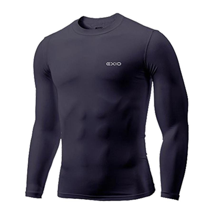 アンダーシャツ 長袖 丸首 メンズ コンプレッションウェア コンプレッション インナーシャツ アンダーウェア ゴルフウェア ゴルフ 野球 全7色 EXIO エクシオ|fuerzajapan|23