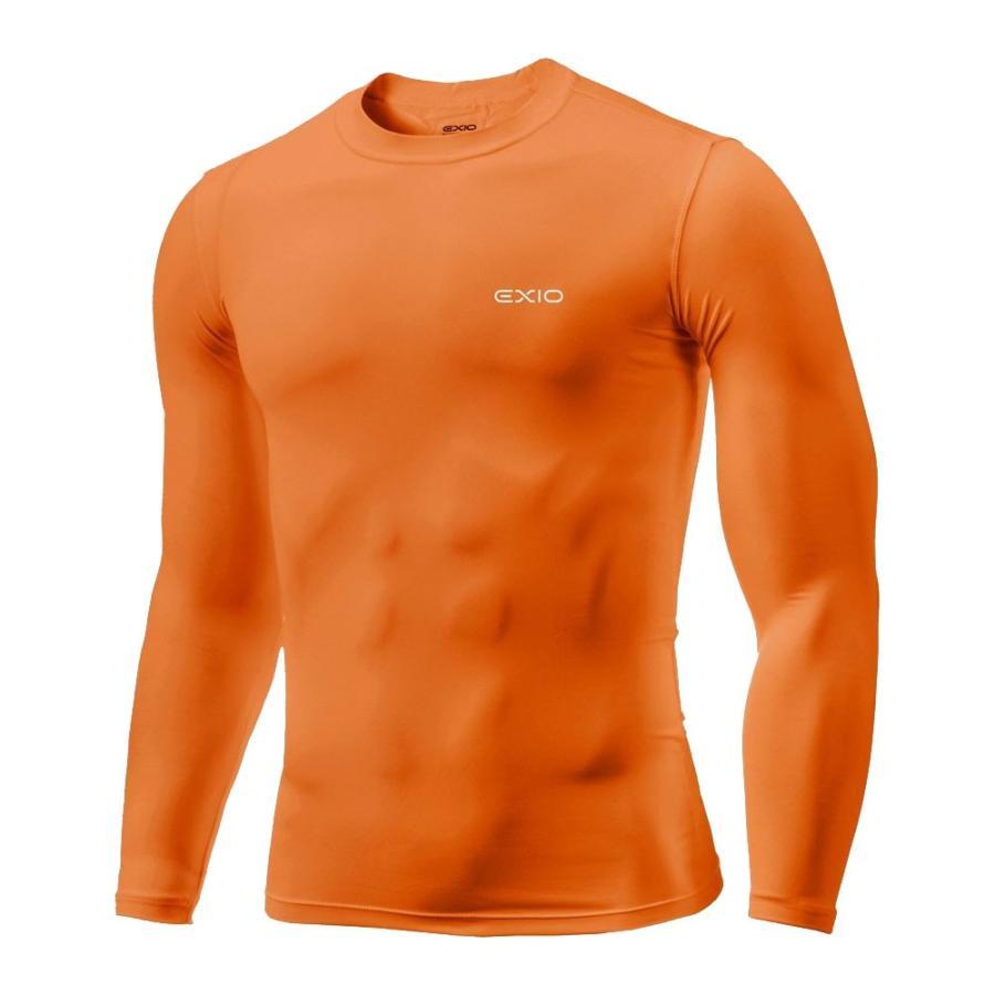 アンダーシャツ 長袖 丸首 メンズ コンプレッションウェア コンプレッション インナーシャツ アンダーウェア ゴルフウェア ゴルフ 野球 全7色 EXIO エクシオ|fuerzajapan|24