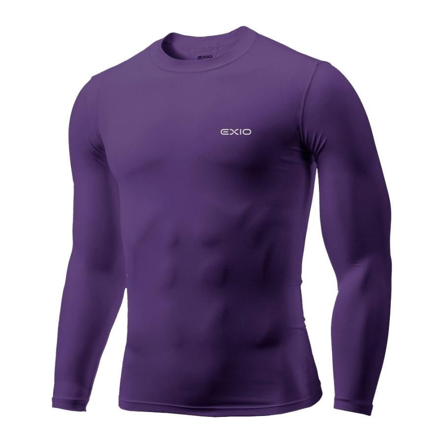 アンダーシャツ 長袖 丸首 メンズ コンプレッションウェア コンプレッション インナーシャツ アンダーウェア ゴルフウェア ゴルフ 野球 全7色 EXIO エクシオ|fuerzajapan|25