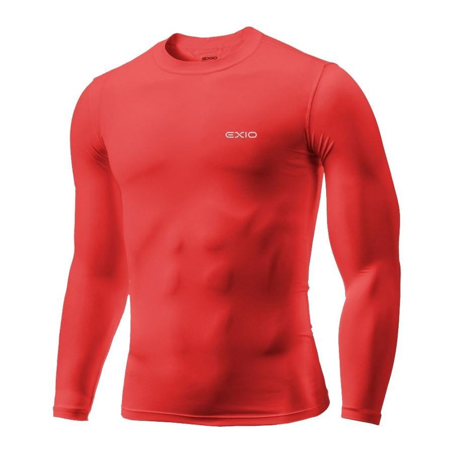 アンダーシャツ 長袖 丸首 メンズ コンプレッションウェア コンプレッション インナーシャツ アンダーウェア ゴルフウェア ゴルフ 野球 全7色 EXIO エクシオ fuerzajapan 26