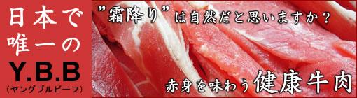 日本で唯一のYBB、赤身を味わう健康牛肉。興農牛
