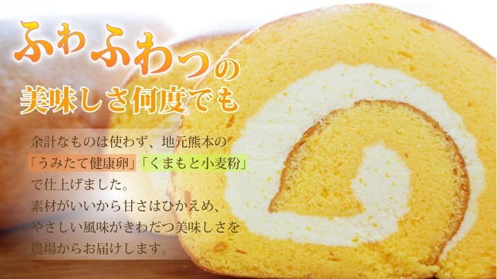 ふわふわっの美味しさ!甘夏香るロールケーキ