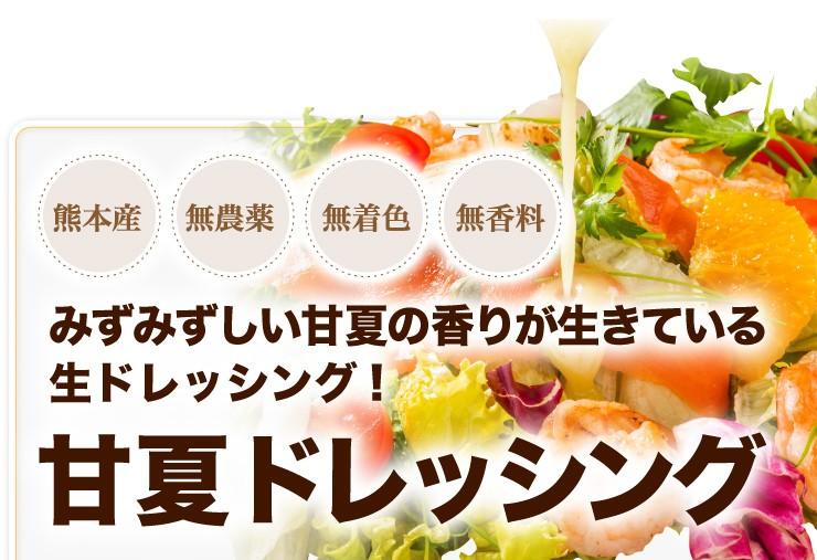 熊本県産 無農薬 無着色 無香料 みずみずしい甘夏の香りが生きている生ドレッシング!甘夏ドレッシング