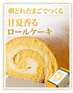 朝どれたまごでつくる甘夏香るロールケーキ