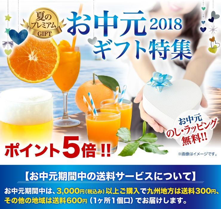 お中元ギフト特集2018 ポイント5倍!のし・ラッピング無料!