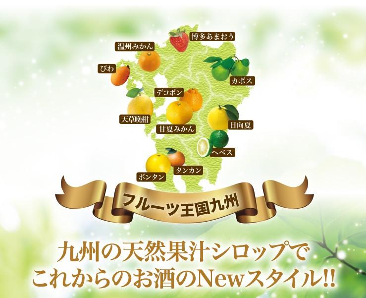 フルーツ王国九州 九州の天然果汁シロップでこれからのお店のNewスタイル!!