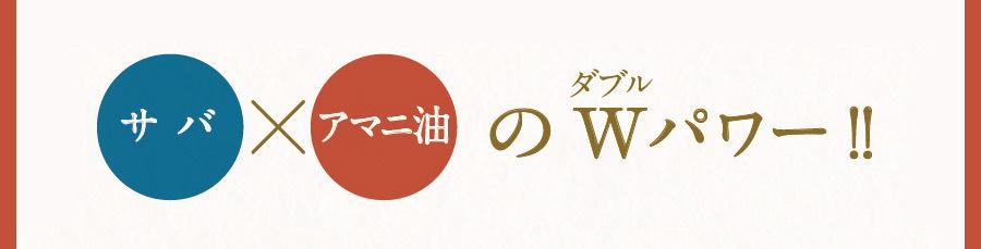 サバ×アマニ油のWパワー!!
