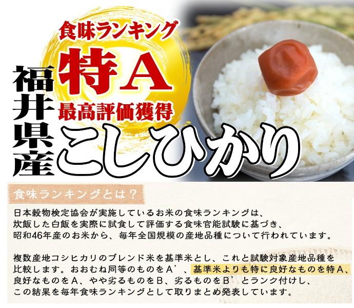 福井コシヒカリ特A連続獲得