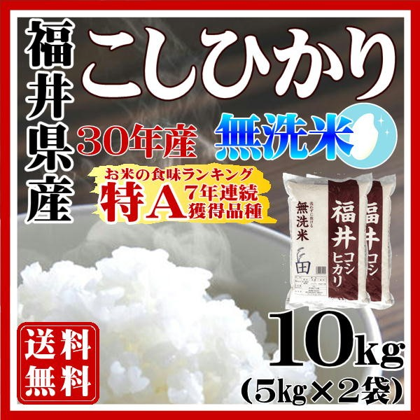 無洗米福井コシヒカリ