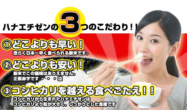 ハナエチゼンの3つのこだわり!!