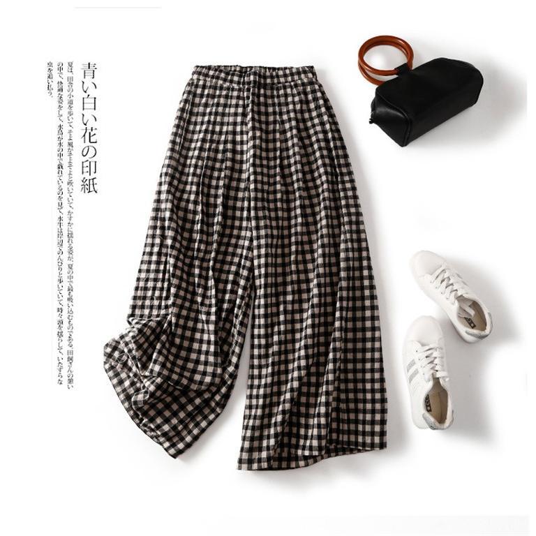 パンツ ワイドパンツ ボトムス スカーチョ ガウチョ スカンツ レディース チェック柄 ガウチョパンツ 大きいサイズ ロングパンツ ゆったり 体型カバー|fukumarufukumaru|16