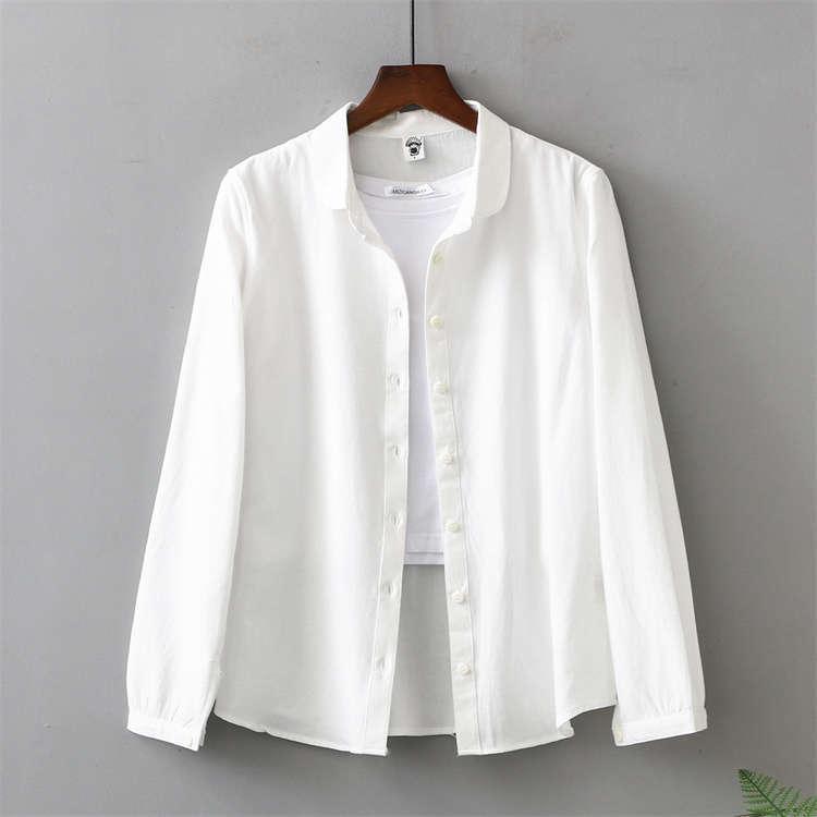 シャツ 長袖 トップス ワイシャツ レディース 秋 コットン 綿 シャツブラウス 綿シャツ 通気性 シンプル ボタン留め 前開き 着心地いい カジュアル|fukumarufukumaru|16