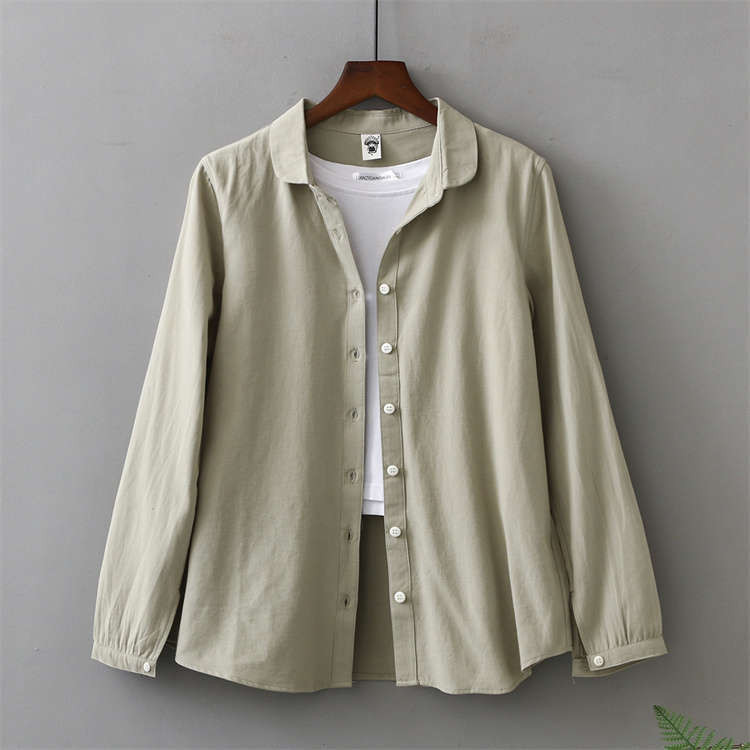 シャツ 長袖 トップス ワイシャツ レディース 秋 コットン 綿 シャツブラウス 綿シャツ 通気性 シンプル ボタン留め 前開き 着心地いい カジュアル|fukumarufukumaru|18