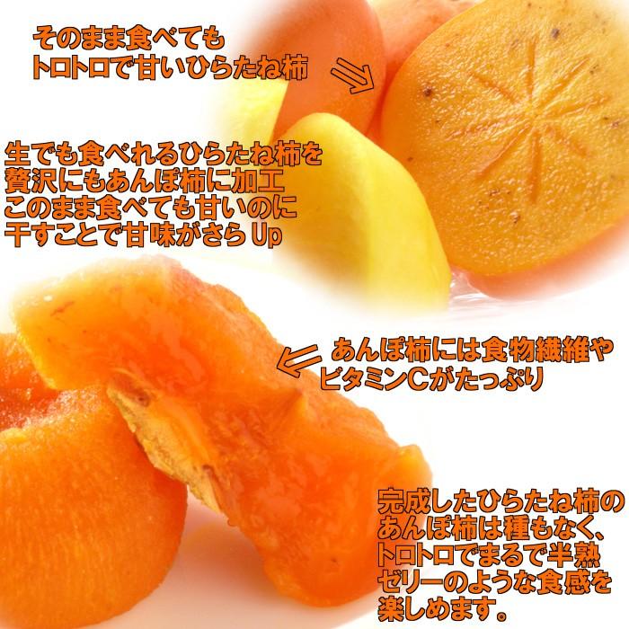 そのまま食べても甘いひらたね柿をあんぽ柿にしたのでそれはとても甘いです