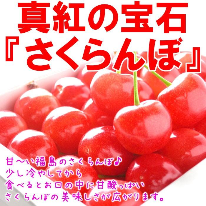 真紅の宝石『さくらんぼ』 甘〜い福島のさくらんぼ♪少し冷やしてから食べるとお口の中に甘酸っぱいさくらんぼの美味しさが広がります。