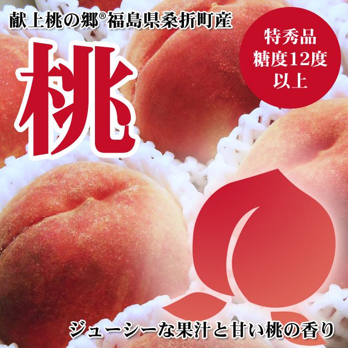 献上桃の郷(R)桑折町産の特秀品桃