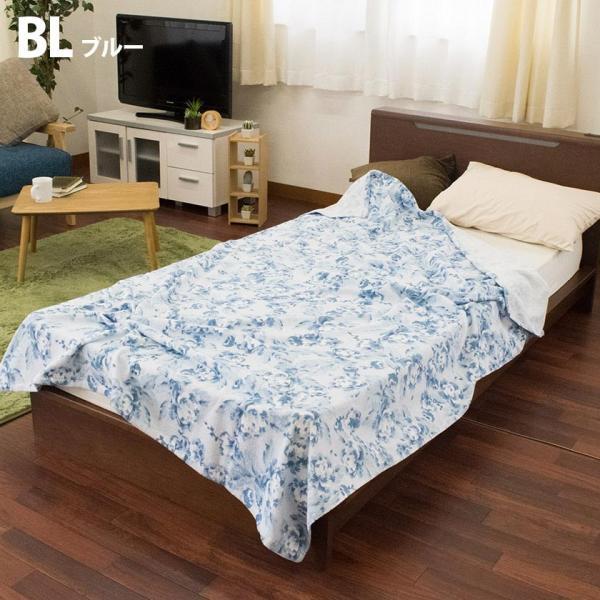タオルケット シングル 昭和西川 綿100% 花柄 タオルケット クラシックガーデン futon 09
