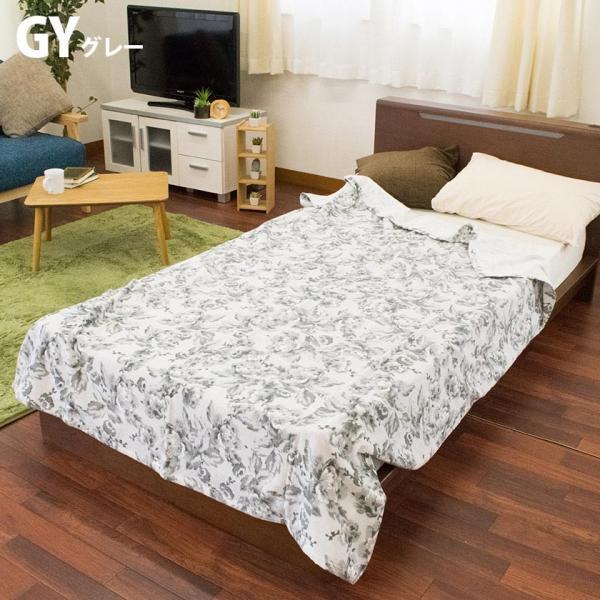 タオルケット シングル 昭和西川 綿100% 花柄 タオルケット クラシックガーデン futon 10