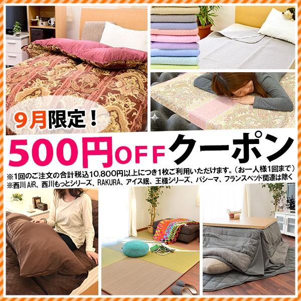 9月限定★税込10,800円以上のお買い物で500円引きクーポン