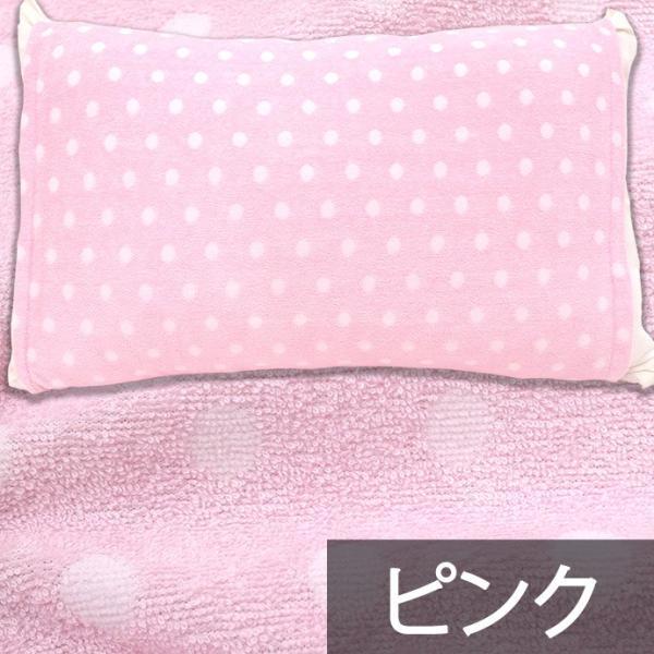 枕カバー タオル地 のびのび筒型ピローケース ストライプ柄/ドット柄 フリーサイズ futon 09