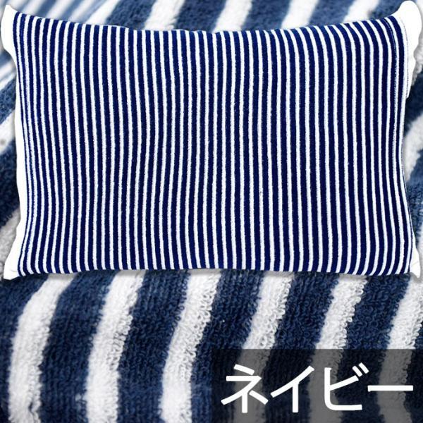 枕カバー タオル地 のびのび筒型ピローケース ストライプ柄/ドット柄 フリーサイズ futon 17