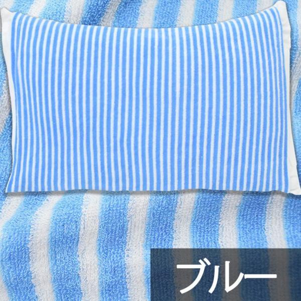 枕カバー タオル地 のびのび筒型ピローケース ストライプ柄/ドット柄 フリーサイズ futon 16