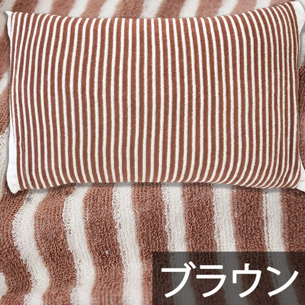 枕カバー タオル地 のびのび筒型ピローケース ストライプ柄/ドット柄 フリーサイズ futon 14