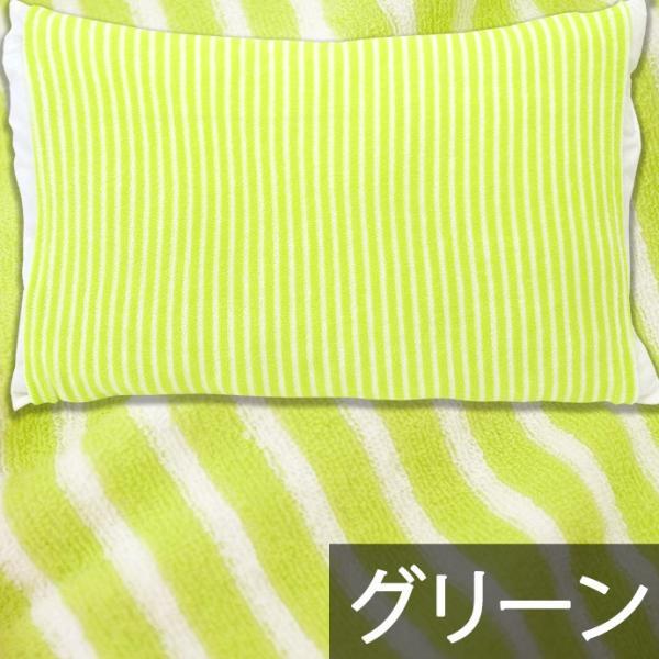 枕カバー タオル地 のびのび筒型ピローケース ストライプ柄/ドット柄 フリーサイズ futon 11