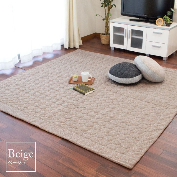 ひんやり接触冷感ラグ 2畳 185×185cm 夏用 ウォッシャブル 洗える涼感ラグ グラシエ futon 11