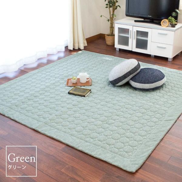 ひんやり接触冷感ラグ 2畳 185×185cm 夏用 ウォッシャブル 洗える涼感ラグ グラシエ futon 13